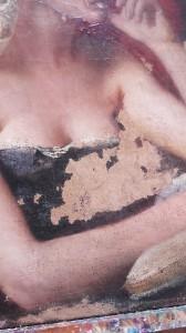 Buste de femme avant la restauration